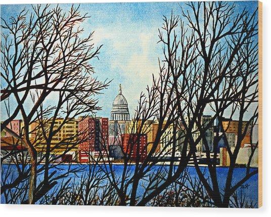 Madison Treed Wood Print