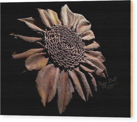 Mailbox Sunflower Wood Print