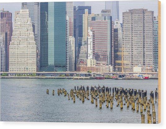 Manhattan On The East River Wood Print