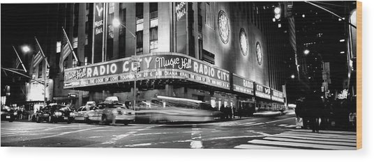 Manhattan, Radio City Music Hall, Nyc Wood Print