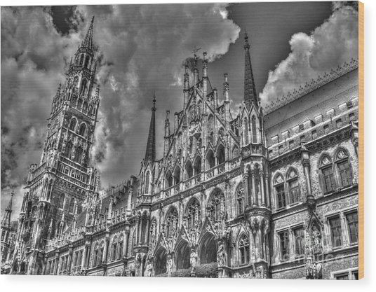 Marienplatz In Munich Wood Print