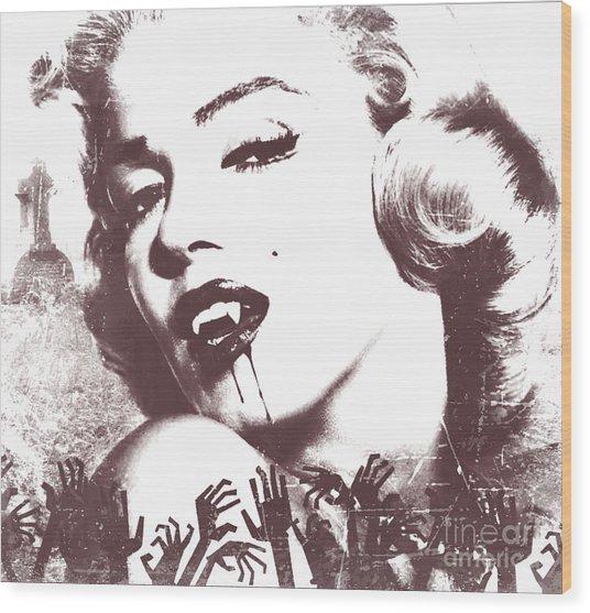 Marilyn Monroe Vampire Wood Print