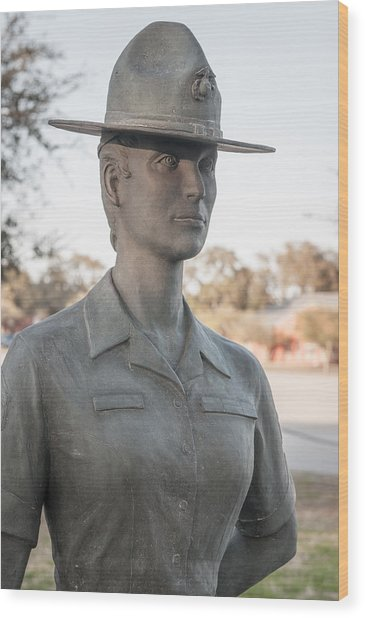 Marine Drill Instructor Wood Print