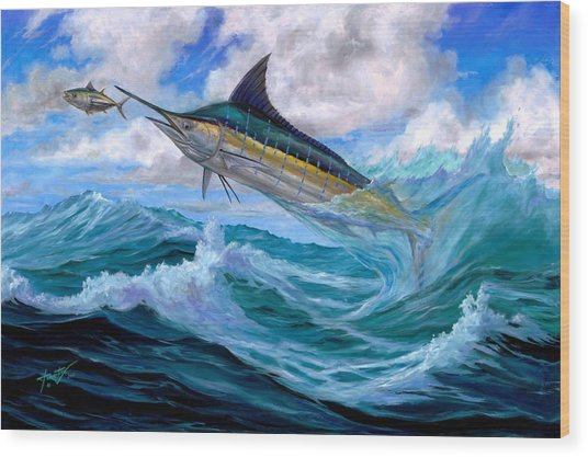 Marlin Low-flying Wood Print