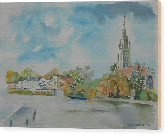 Marlow On Thames Wood Print