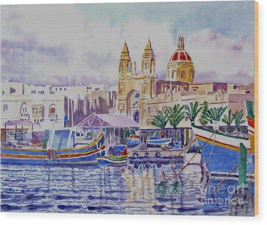 Marsaxlokk Malta Wood Print