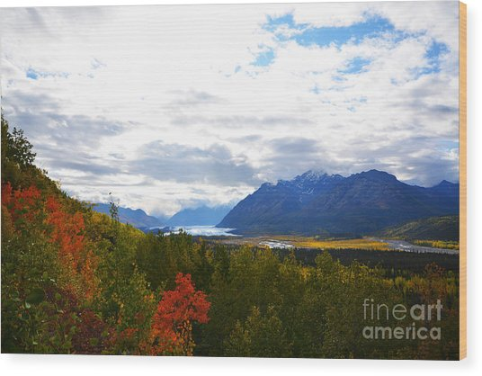 Wood Print featuring the photograph Matanuska Glacier by Kate Avery