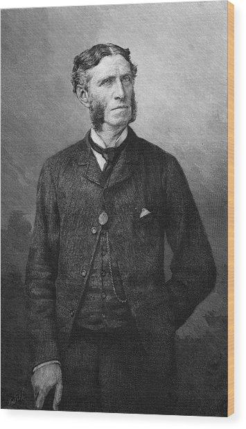 Matthew Arnold  Writer And Critic Wood Print by Mary Evans Picture Library