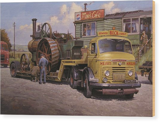May's Transport Cafe. Wood Print