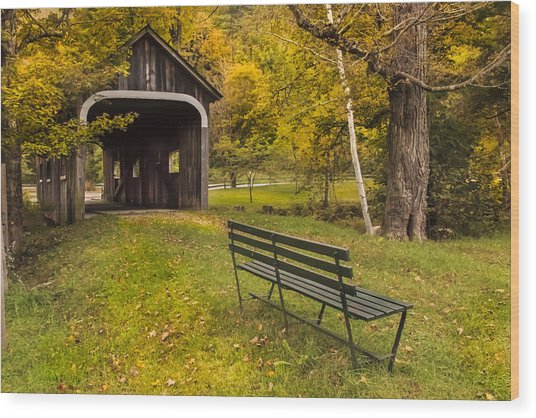 Mcwilliams Covered Bridge Wood Print