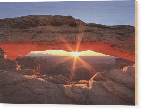 Mesa Arch Wood Print by Darryl Wilkinson