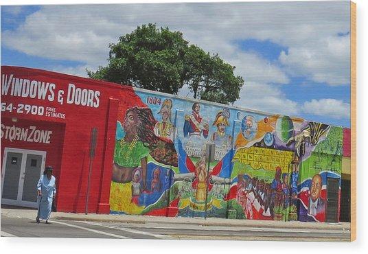 Miami Street Art Wood Print