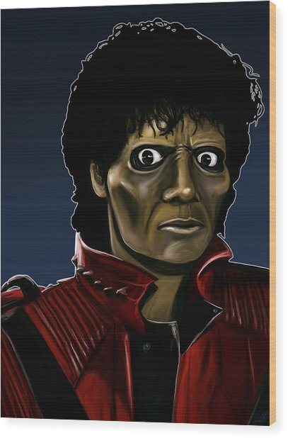 Michael Jackson Thriller Wood Print