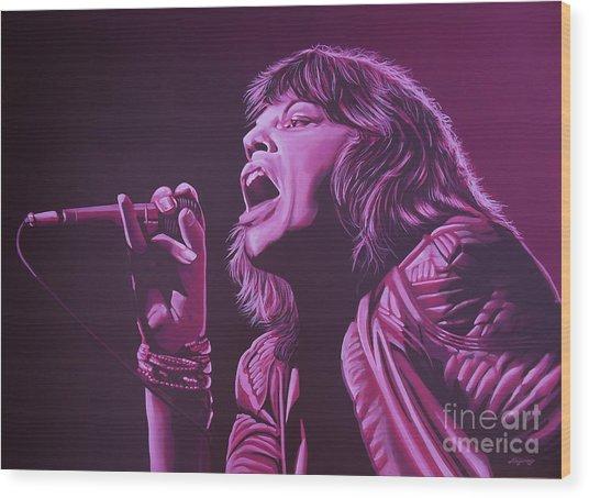 Mick Jagger 2 Wood Print