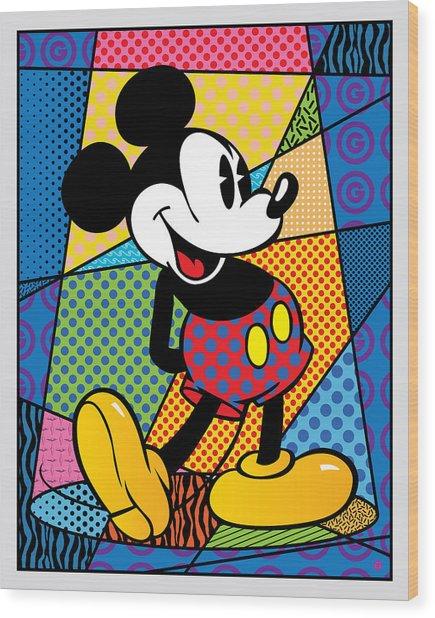 Mickey Spotlight Wood Print