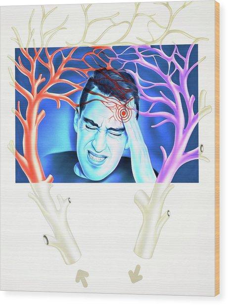 Migraine Wood Print by John Bavosi