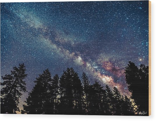 Milky Way Wood Print by Abe Blair