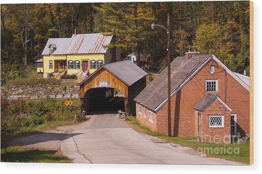 Mill Covered Bridge. Wood Print
