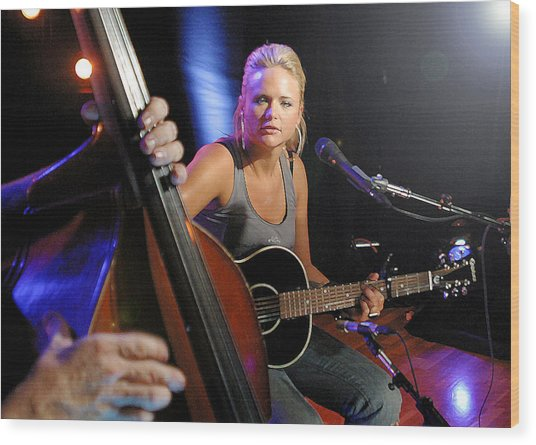 Miranda Lambert Wood Print by Don Olea