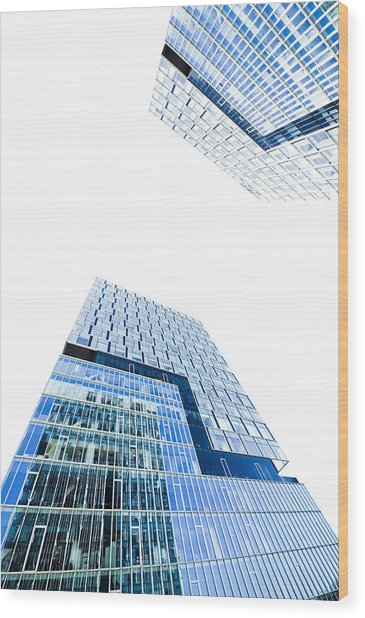 Modern Buildings Wood Print by Ioan Panaite