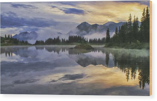 Molas Lake Sunrise Wood Print
