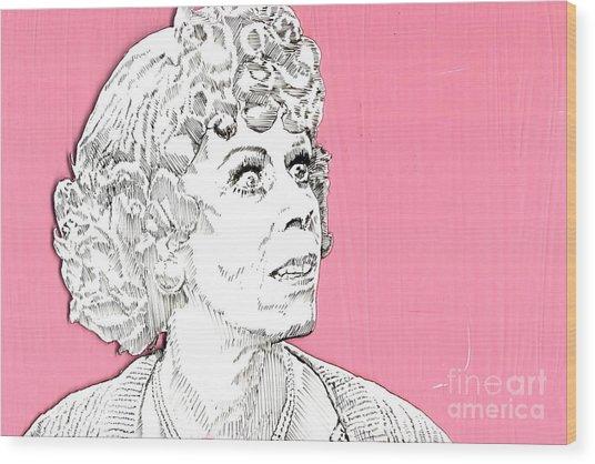 Momma On Pink Wood Print