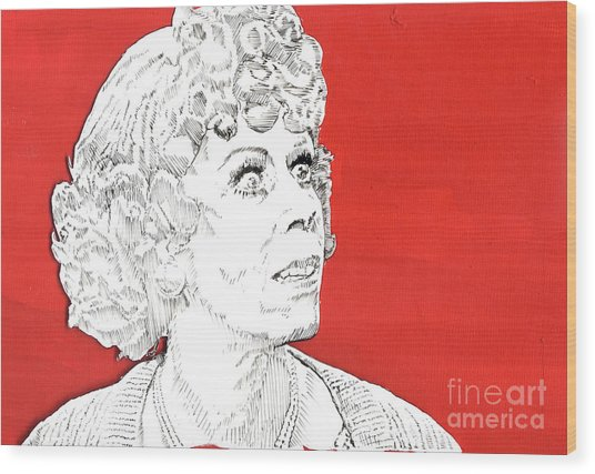 Momma On Red Wood Print