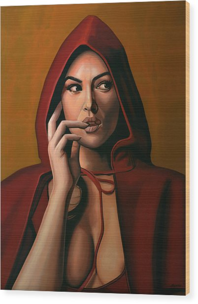Monica Bellucci Wood Print