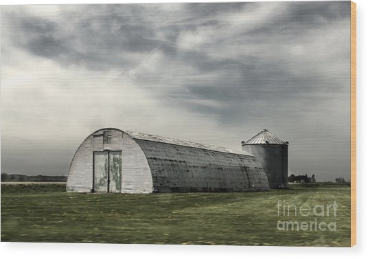Montezuma Iowa - Farm  Wood Print by Gregory Dyer