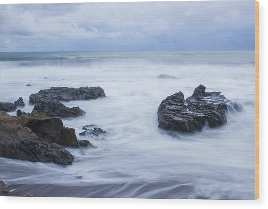 Moonstone Beach Surf 1 Wood Print