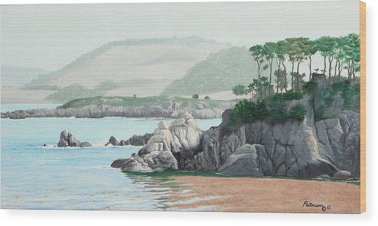 Morning At Point Lobos Wood Print