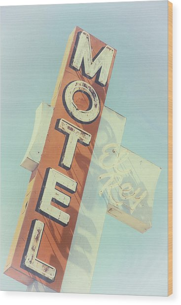 Wood Print featuring the photograph Motel El Rey by Gigi Ebert