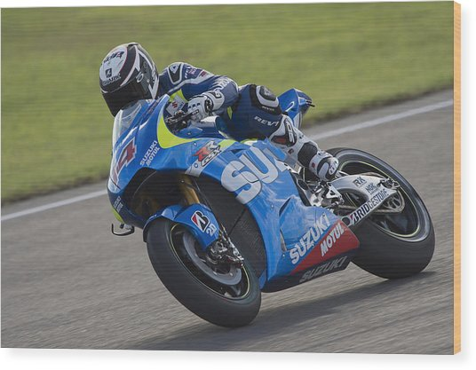 Motogp Of Valencia - Free Practice Wood Print by Mirco Lazzari gp