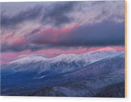 Mount Washington Summit In The Alpenglow Wood Print