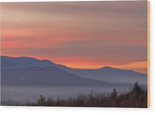 Mountain Sunrise 1 Wood Print