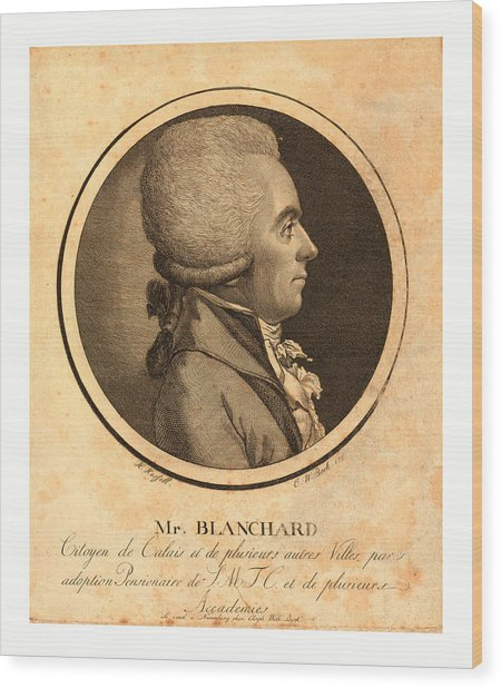 Mr. Blanchard, Living In Calais Wood Print by French School