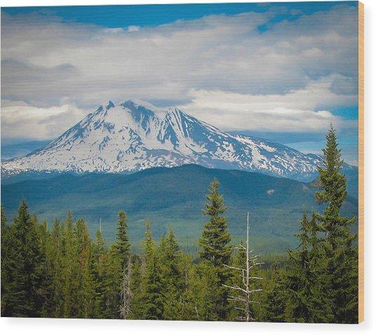 Mt. Adams From Indian Heaven Wilderness Wood Print