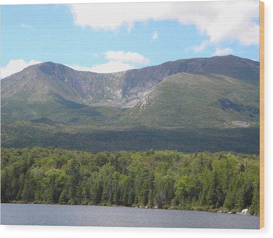 Mt. Katahdin Wood Print
