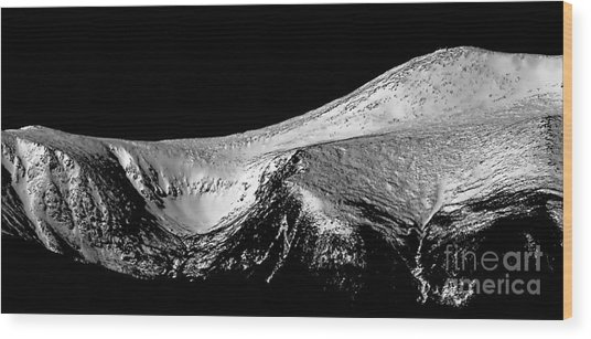 Mt Washington And Tuckerman Ravine Wood Print