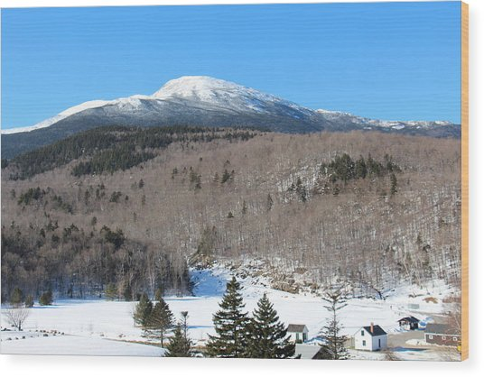 Mt Washington  Wood Print