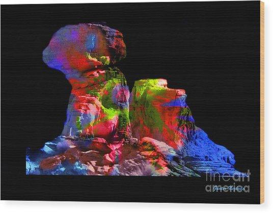 Mushroom Rock Wood Print