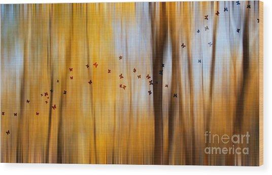 Mystic Forest Wood Print