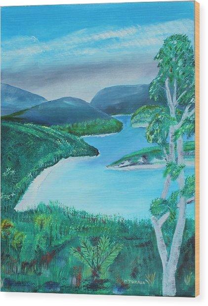 Mystical Island Wood Print