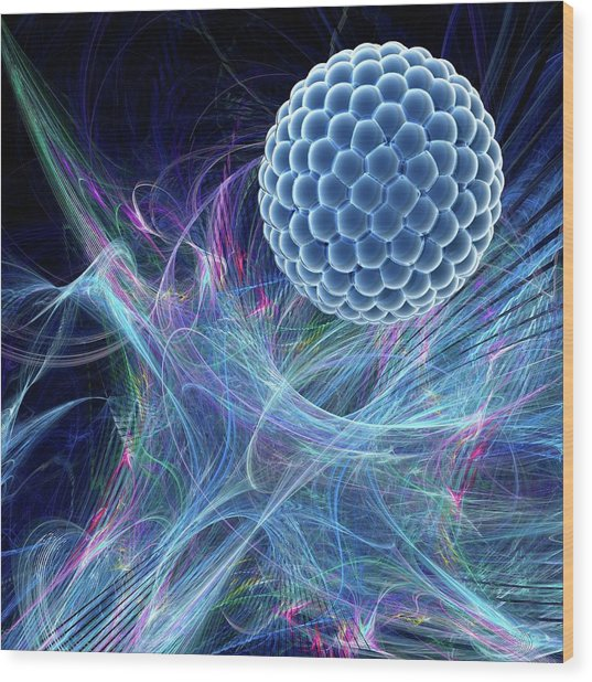 Nanoparticle Wood Print by Laguna Design/science Photo Library