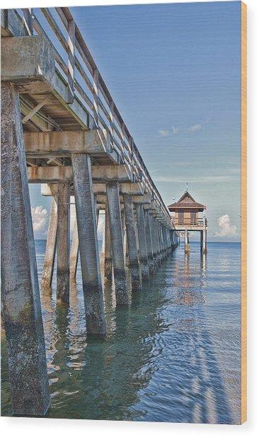 Naples Pier Wood Print