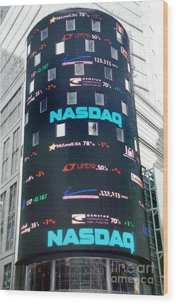 Nasdaq Building  Wood Print