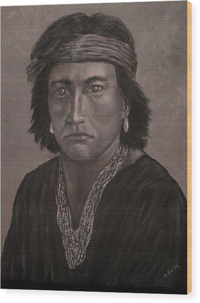 Navajo Boy Native American Wood Print
