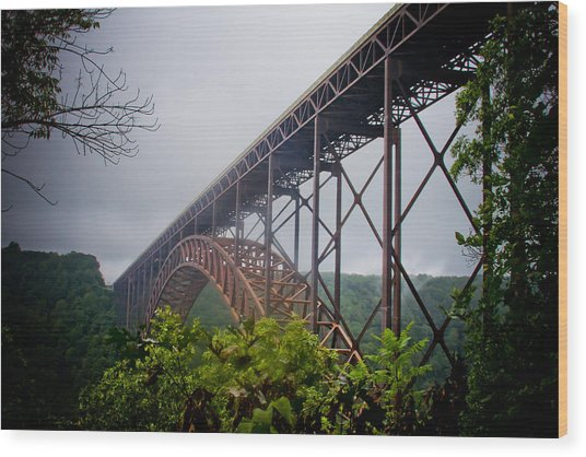 New River Bridge Wood Print