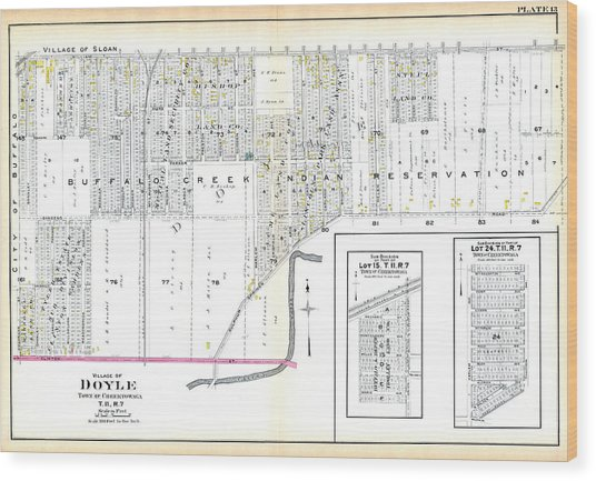Map Of New York Indian Reservations.New York 1915 Doyle Village Buffalo Suburban Buffalo Creek Indian Reservation By Historic Map Works Llc