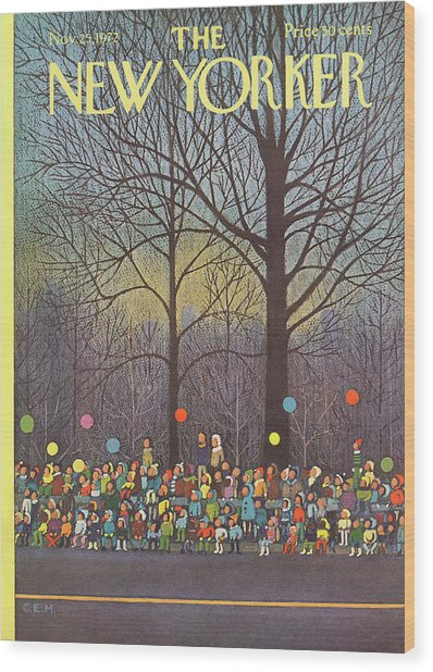 New Yorker November 25th, 1972 Wood Print